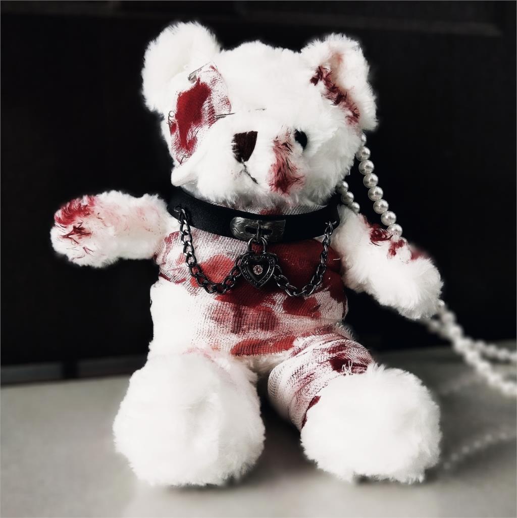 لوليتا يدوية الصنع الدب حقيبة الظلام الدامي المرضى المعاقين الدب حقيبة