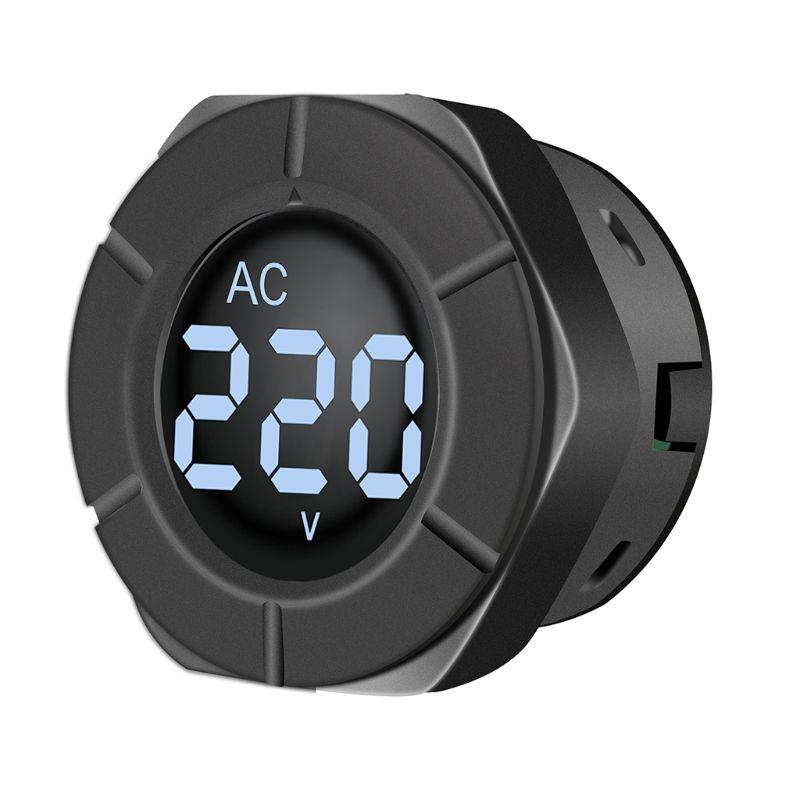 AC 30-500V voltímetro Digital ronda voltaje de pantalla LCD Monitor voltios medidor de Panel Y1AD