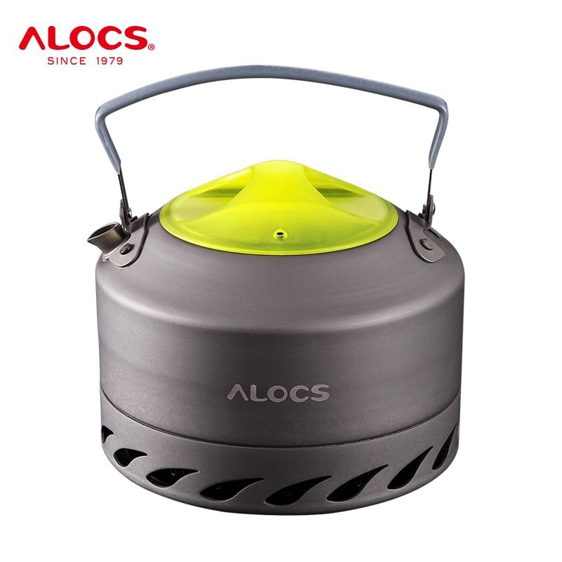 ALOCS CW-K07 المحمولة المدمجة في الهواء الطلق المياه غلاية إبريق الشاي القهوة وعاء 0.9L ل نزهة التخييم المشي السفر سبائك الألومنيوم