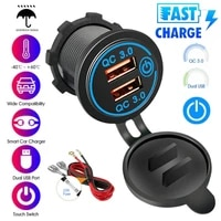 12v car cigarette lighter socket dual qc 3 0 usb port fast charger power adapter car electronics accessories charger for auto
