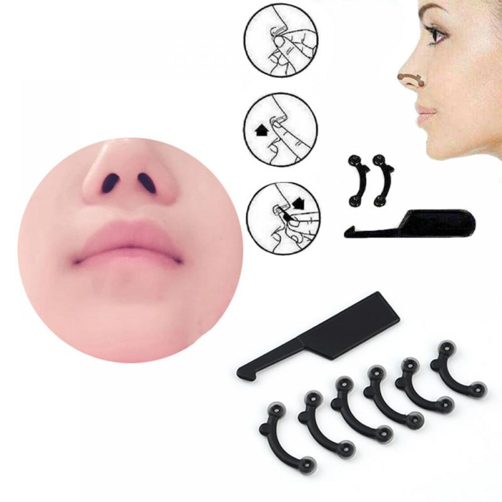 6Pcs/Set Beauty Nose Up Lifting Bridge Shaper Massage Tool No Pain Nariz Shaping Clip Clipper Women