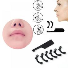 6Pcs/Set Beauty Nose Up Lifting Bridge Shaper Massage Tool No Pain Nariz Shaping Clip Clipper Women