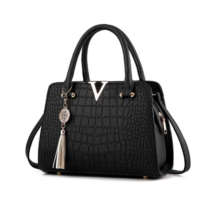 mengxilu brand 3 pcs set crocodile bag women pu leather shoulder bags female scarf top handle bag casual tote purse card bags high quality Lady Shoulder Crossbody Bags fringed Messenger Bag Tassel PU Crocodile Leather Totes Top-handle women Shoulder Bag