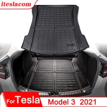 Upgrade Model 3 2021 Trunk Mat TPE Pad For Tesla Model 3 Mat Accessories Trunk Cargo Tray Floor Mat