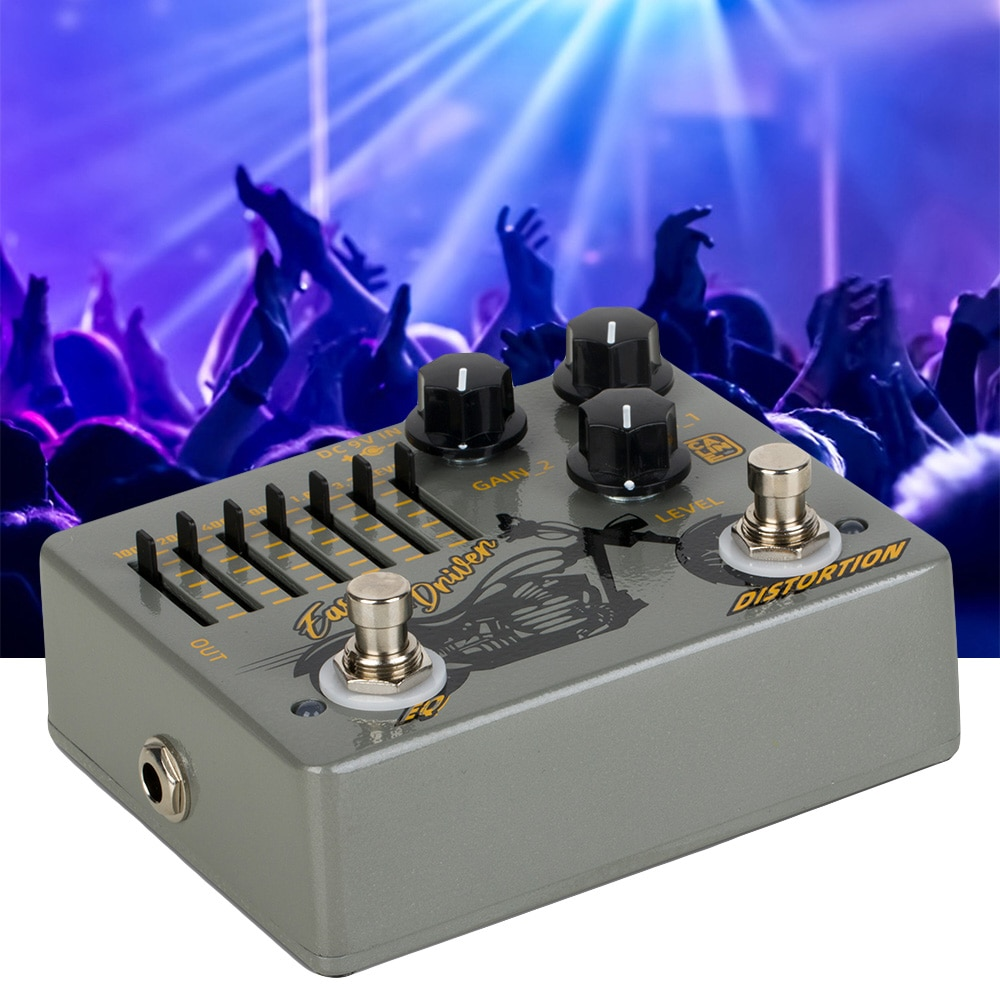 Caline Dcp-04 Easy Driver Distortion Eq Pedaleira Guitarra Dual Guitar Pedal Tremolo Effector Loop Box Synthesizer enlarge