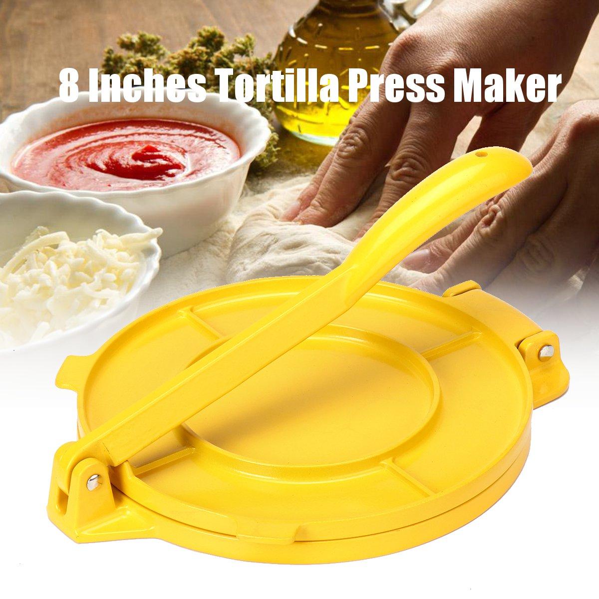 Prensa plegable para tortillas, herramienta de cocina para hornear maíz, harina de...