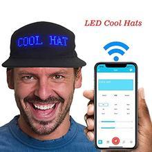 Luminous LED Display Multilanguage Wireless Bluetooth Party Baseball Cap Sun Hat Bluetooth LED Board Baseball Party Luminous Hat