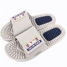 Hommes été solide Massage pantoufles décontracté confortable maison pantoufles salle de bain diapositives hommes santé chaussures anti-dérapant Massage tongs
