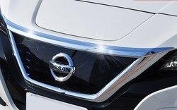 1 шт. ABS хромированные аксессуары, подходят для Nissan Leaf ZE1 2017 2018 2019 накладка на двигатель капот