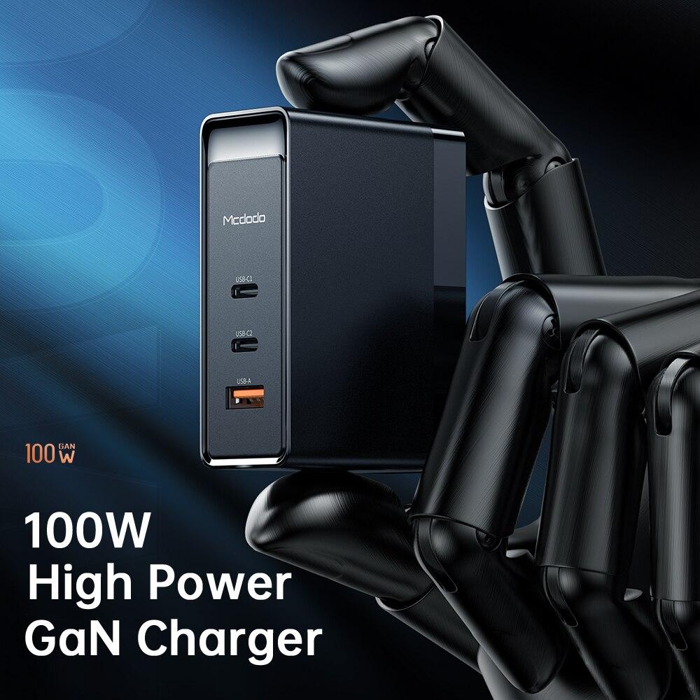 MCDODO-شاحن Usb 100W GaN ، 3 منافذ ، PD3.0 PPS QC3.0 ، متوافق مع Apple iphone 12 Samsung Note 10 PD