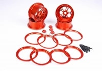 alloy cnc wheel hub kit with nut 4pcs fit for 15 losi 5ive t rovan lt king motor x2