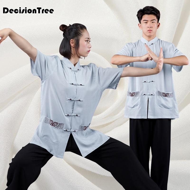 ¡Novedad de 2019! Camiseta para hombre y mujer de taiji wushu de taiji de tai chi shaolin, personaje chino kungfú, ropa de algodón falsa
