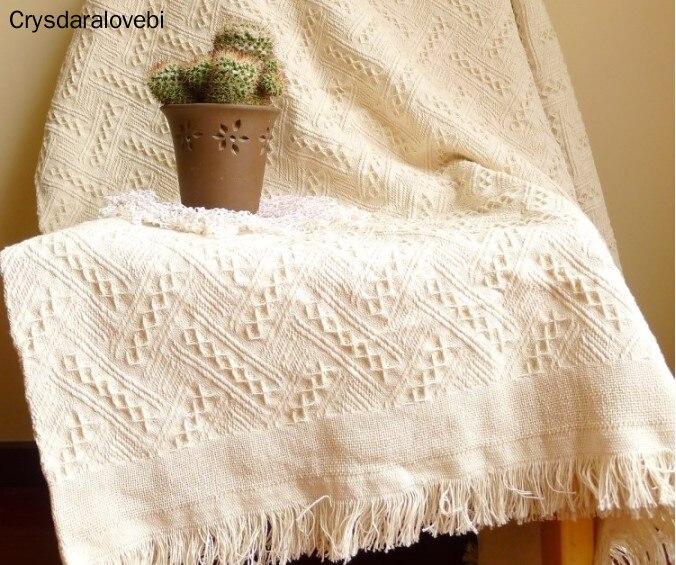 بطانية أمريكية محبوكة للبالغين ، غطاء شاطئ ، سرير ، أريكة ، أبيض ، للاستخدام المنزلي
