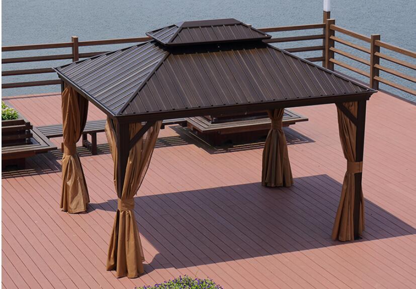 Outdoor leisure sunshade Roman awning aluminum alloy awning garden villa courtyard barbecue tent