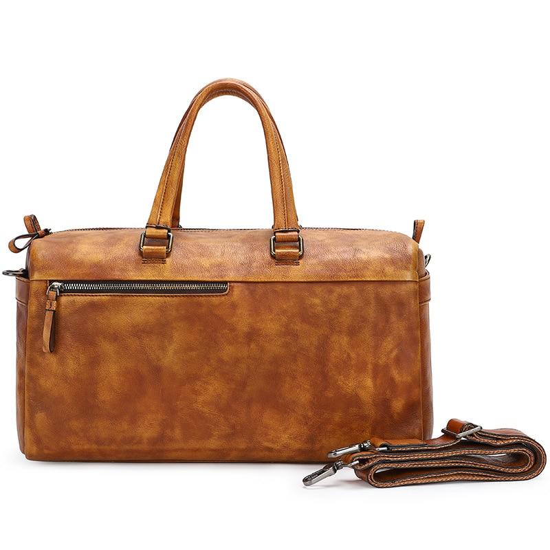 Male Genuine Leather Big Duffle Bag Men Women Travel Bags Designer Carry on Travel Luggage Bags Large Male Weekend Tote Handbag