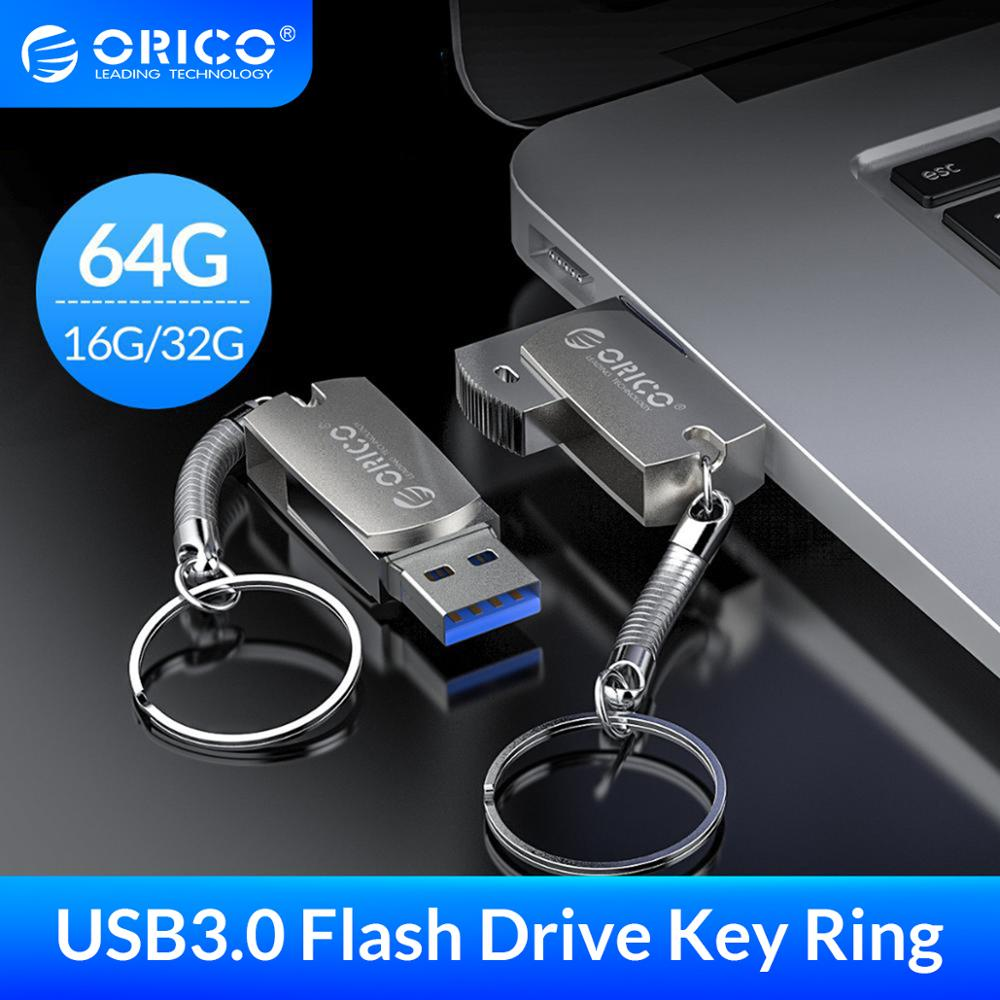 ORICO 3.0 USB דיסק און קי 64 gb 32 gb 16 gb USB 3.0 מתכת זיכרון פלאש Usb מקל עם מפתח טבעת אחסון פלאש דיסק דיסק און קי Флешк