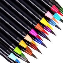 24 farbe weiches haar aquarell stift malerei set, bunte malerei set student künstler skizze comic malerei werkzeug aquarell stift