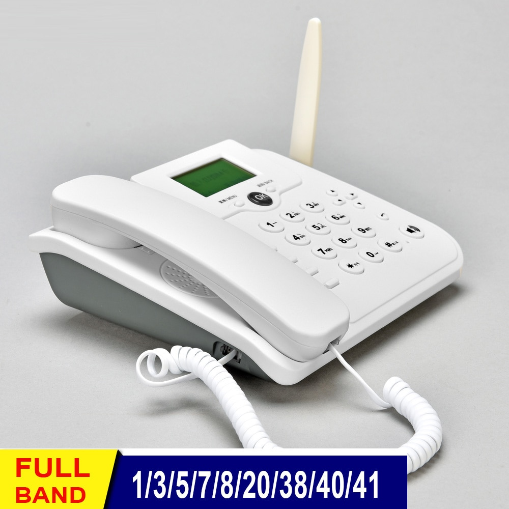 Home Wireless LTE Modem 4g Wifi Router 2G/3G GSM Cordless Fixed Voice Call Desk Telephone Landline Phone Sim Card Booster