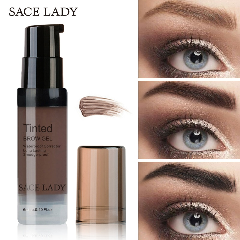 SACE LADY Waterproof Eyebrow Gel Makeup Henna Shade For Eye Brow Tint Natural Enhancer Make Up Cream Long Lasting Brand Cosmetic недорого