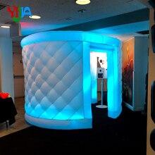 Joli boîtier de stand Photo gonflable en diamant   10 pieds, avec 3 lumières partout pour les arrière-plans de fête et de mariage
