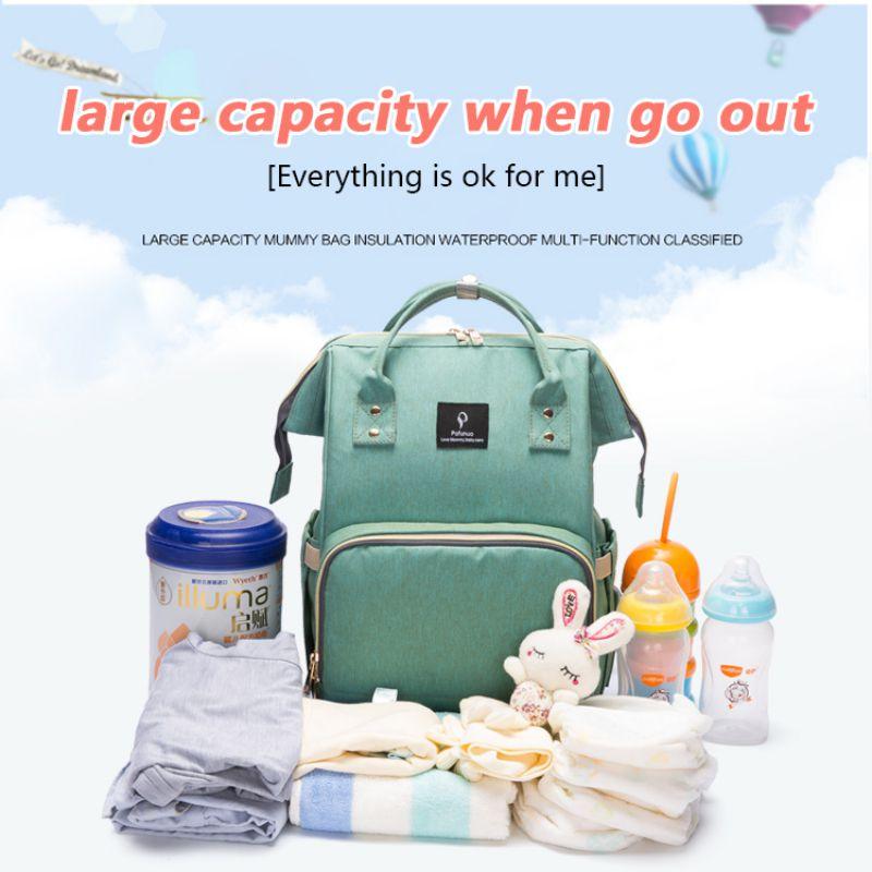 VIP Large Capacity Multi-functional Shoulder Mom Travel Backpack USB Interface Maternal Infant Bag