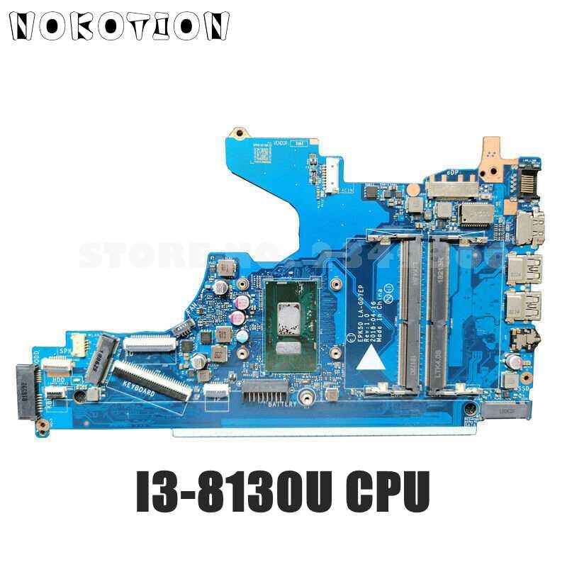 NOKOTION ل HP 15-DA اللوحة الأم I3-8130U وحدة المعالجة المركزية L20374-001 L20374-601 EPK50 LA-G07EP اللوحة الرئيسية DDR4