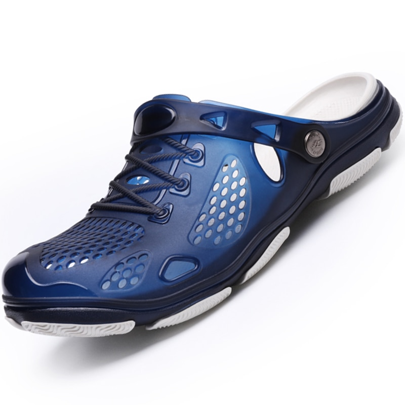 Мужские сандалии, вентилируемые Нескользящие сандалии, мягкие Нескользящие сандалии, складная обувь двойного назначения, легкая в носке