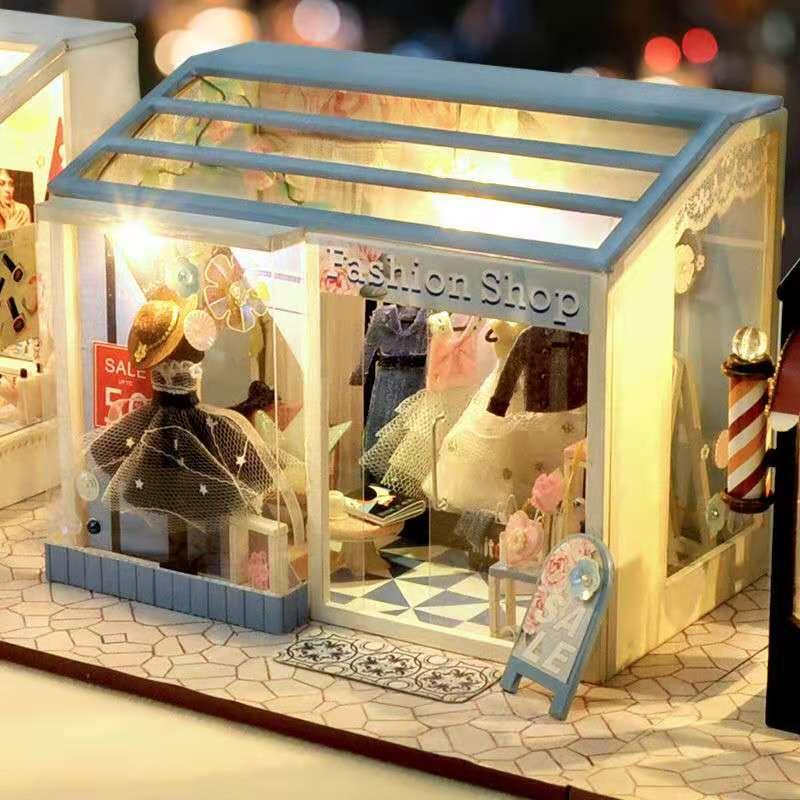 بيت الدمية المصغر للأطفال ، مجموعة أثاث التجميع ، DIY ، هدية الكريسماس