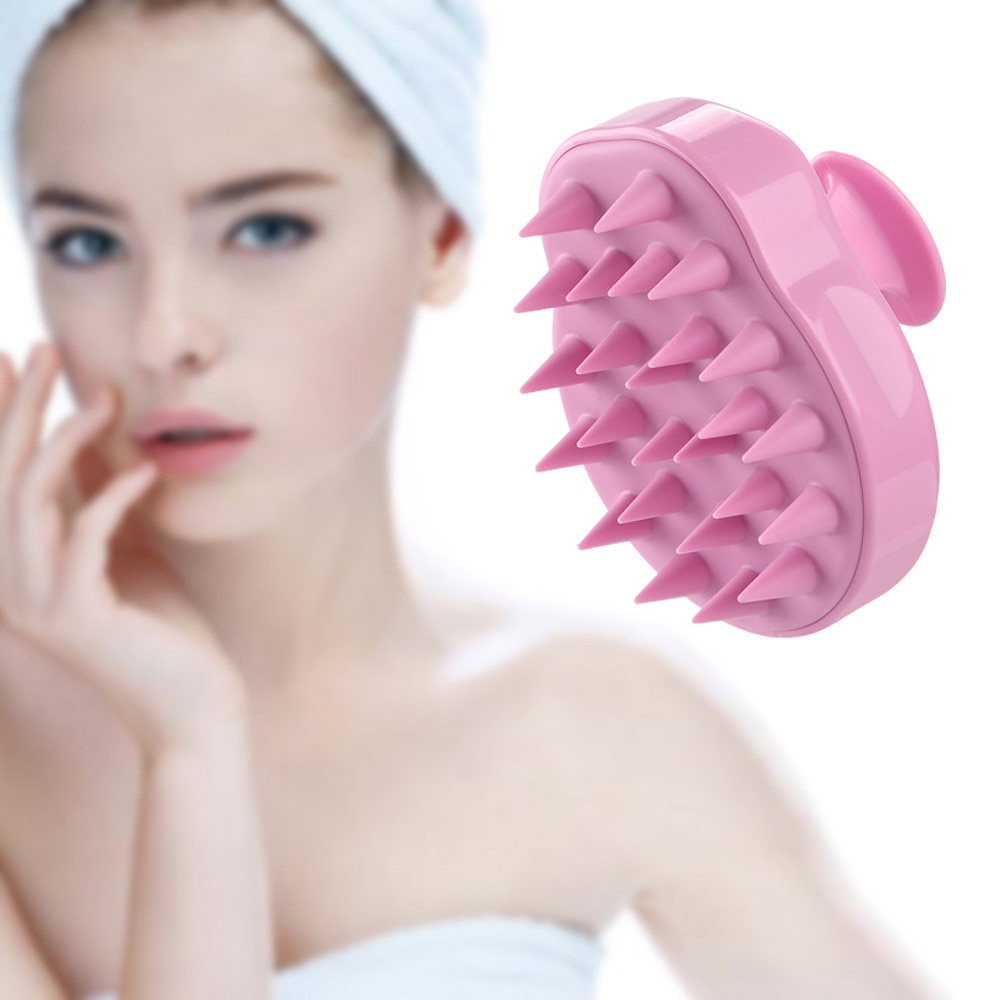 Silicone Head Body To Wash Clean Care Hair Root Itching Scalp Massage Comb Shower Brush Bath Spa Ant