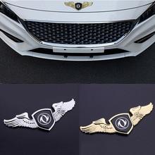 Auto Front Bonnet Emblem Badge Zinc Alloy Wing Decals Car Sticker For Dongfeng Fengshen Cross AX4 AX5 AX7 Fengxing 580 S30 H30