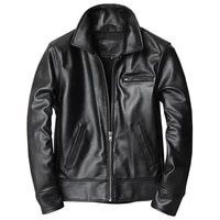 fashion business dress suit jacket and coat for men genuine leather tuxedo coat mans outwear spring and autumn cowhide overcoat