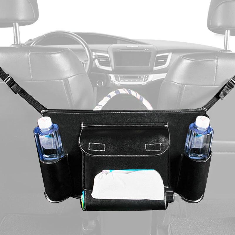 Car Seat Storage Net Pocket Car Storage Bag Multi Function Hanging Bag Car Interior Prevent Children Pets Crossing More Safety