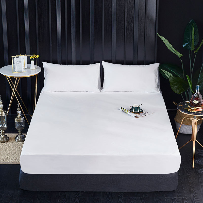 Todo o tamanho 100% poliéster suave à prova dsmooth água colchão capa máquina lavável matress protector colchao ácaros poeira capa de cama