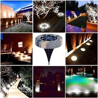816led solar outdoor led underground light garden light waterproof ip68 solar street light garden buried stairs courtyard lawn