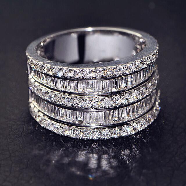 Роскошные серебряные большие кольца из стерлингового серебра 925 пробы, плетеные круглые кольца для женщин и мужчин, обручальные модные ювел...