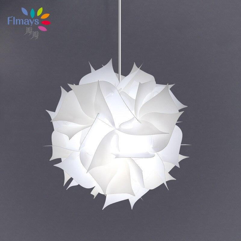 Клапан современный минималистский отель освещение Pp пластик Сферический Абажур белый адмирал люстра декоративные прямые поставки