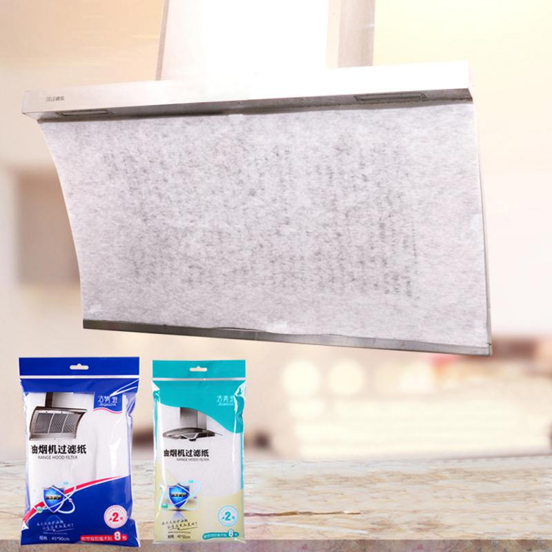 2 pçs casa gama capa anti-óleo filtro de papel fumas capa filtro de óleo adesivos de óleo absorção papel capa ferramentas de cozinha