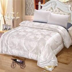 Amoreira de seda primavera outono colcha confortável cobertor edredon enchimento com algodão capa rainha rei tamanho quilts dropshipping