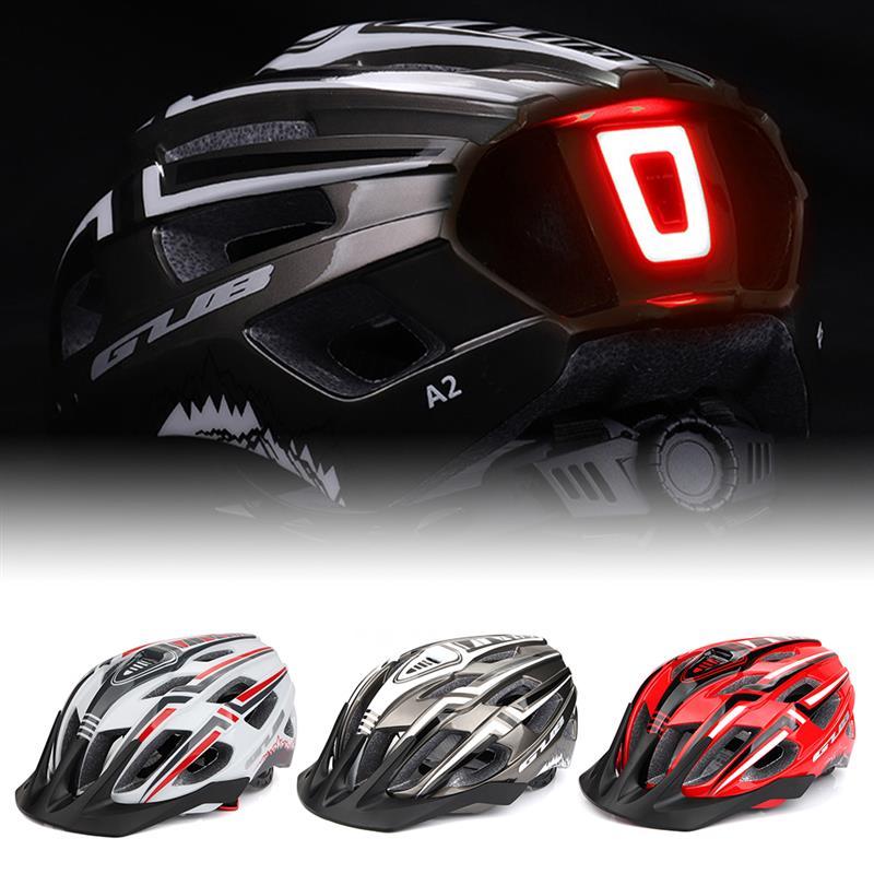 GUB-Casco de ciclismo con luz LED, recargable vía USB, moldeado integralmente, ultraligero,...