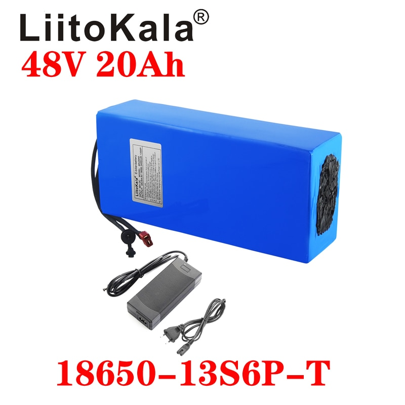LiitoKala 48 فولت 20 أمبير 18650 13S6P ebike بطارية 20A BMS 48 فولت بطارية ليثيوم بطارية حزمة ل دراجة كهربائية سكوتر كهربائي
