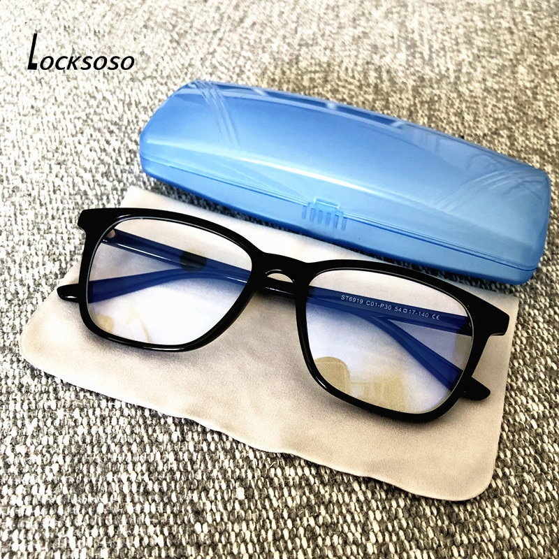 LOCKSOSO Anti Blue Light Glasses For Men Women Computer Game Radiation Eyeglasses Blue Ray Blocking Blocker Goggles Fram Okulary