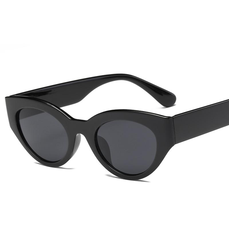 Солнцезащитные очки в стиле ретро кошачий глаз, солнцезащитные очки для Feamale, брендовые дизайнерские солнцезащитные очки, черные солнцезащ...