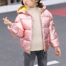 Warm Baby Girl Clothes Winter Overalls For Boy 3-8 Years Baby Clothing Snowsuit Boys Coats Solid Col