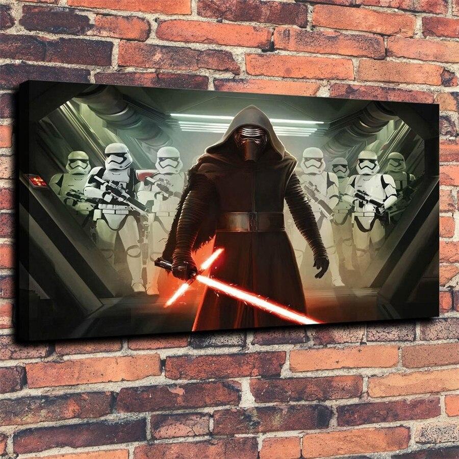 Cuadros impresos HD cuadro de arte de pared 1 pieza/fotos Star Wars Andorid lienzo moderno Living Room Home Decoration Poster