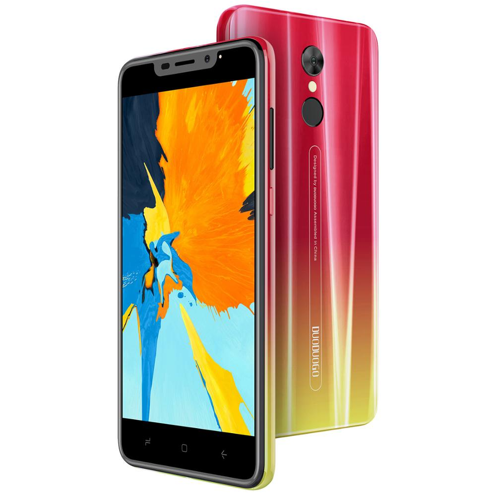 "DUODUOGO G55 Telefone Móvel Android 9.0 3GB de RAM 16GB ROM 13MP + 5MP 5.5 ""HD IPS 4800mAh fingerprint 4G celular Smartphone Celular"
