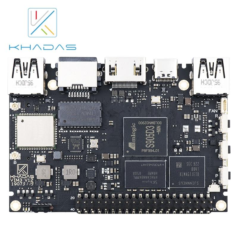 Khadas VIM3L SBC: Amlogic S905D3-N0N Soc With 1.2 TOPS Performance NPU | 2GB + 16GB