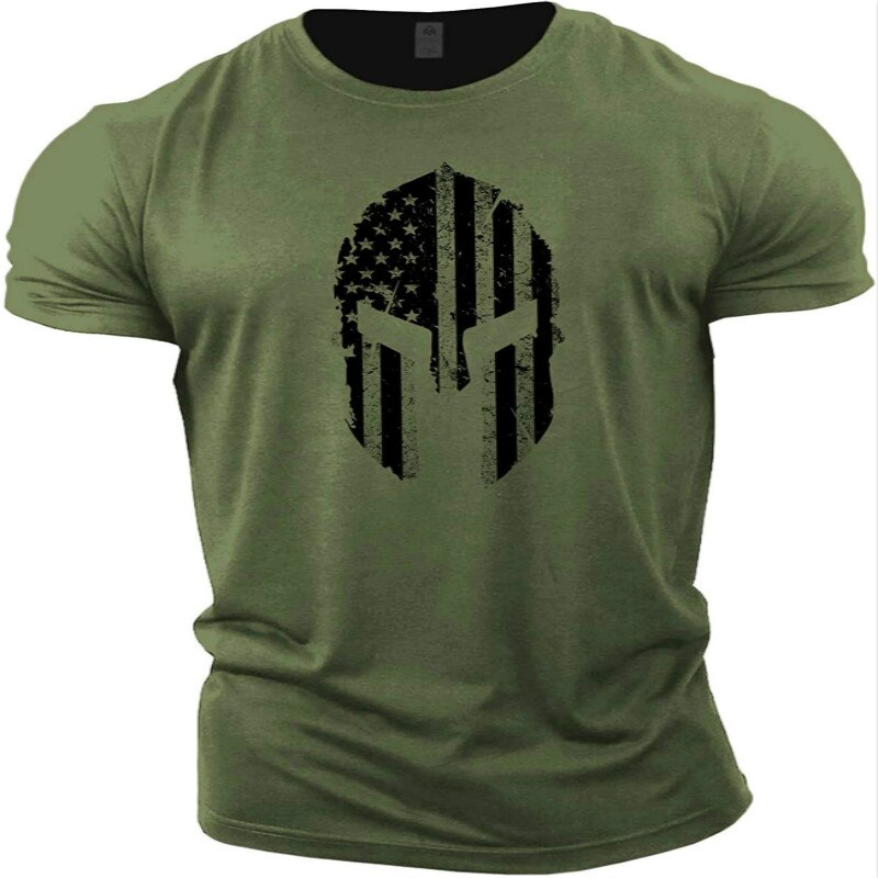 Camiseta deportiva de fitness para hombre Ropa informal de tendencia para verano,...
