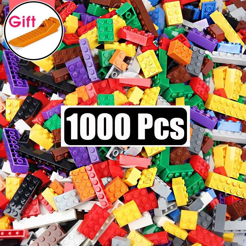 1000 peças blocos de construção diy conjuntos a granel cidade criativo ings clássico técnica tijolos criador brinquedos para as crianças presente natal