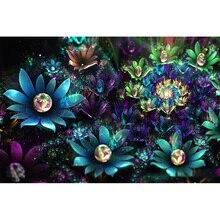 Flower Diamond Painting Dark Shining Rose Diamond Embroidery Full Diamond Embroidery Rhinestone DIY Mosaic Home Decoration