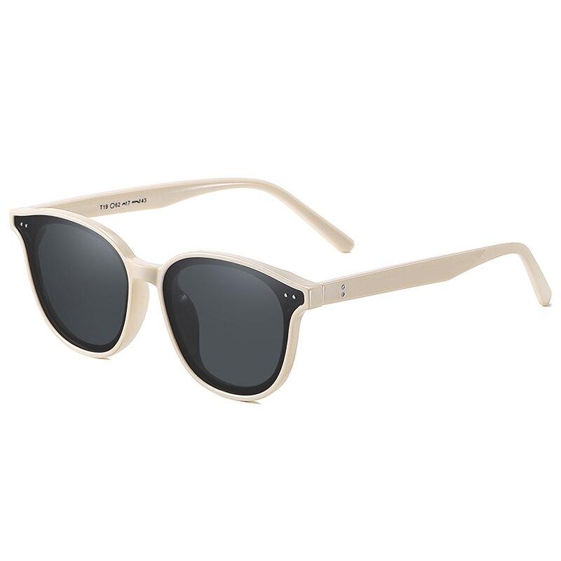 Модные брендовые дизайнерские круглые поляризационные солнцезащитные очки для женщин и мужчин, антибликовые черные линзы, солнцезащитные ...
